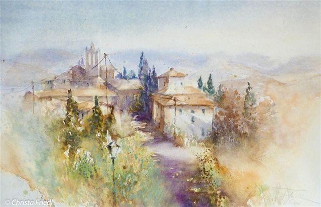 Villa Le Barone Impression Of Tuscany By Crista Friedl