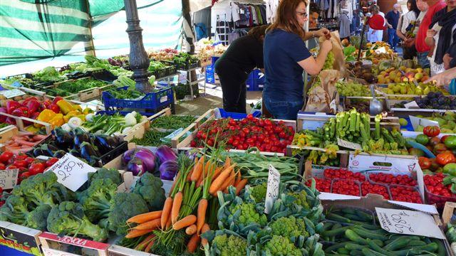 Market  in Panzano in Chianti, close to Villa le Barone