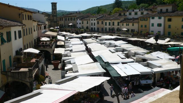 Market in Greve in Chianti, close to Villa le Barone
