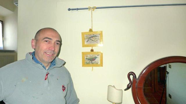 Villa le Barone's craftman painter: Patrizio's trompe l'oeil