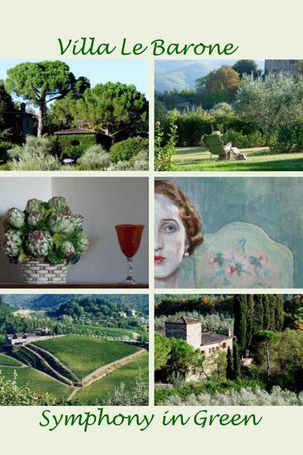 Villa le Barone, Tuscany: symphony in green by Ellen Schneiders