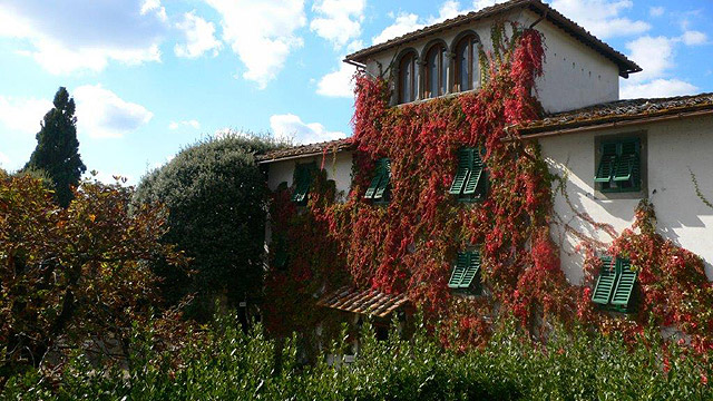 Toscane: Villa le Barone in the fall