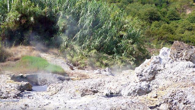 Maremma ,Tuscany :Fumaroles  in Sasso Pisano