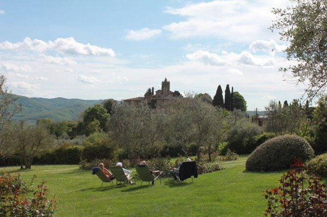 Relaxing at Villa Le Barone in Chianti