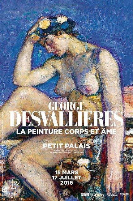 "Poster of the exhibition ""George Desvallières""  Paris"