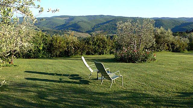 Tuscan countryside in Villa le Barone