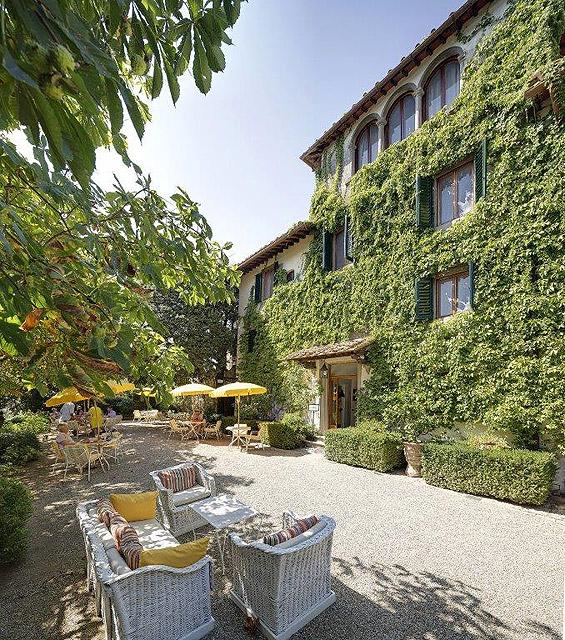 The terrace where Villa le Barone's 40th birthday party was held