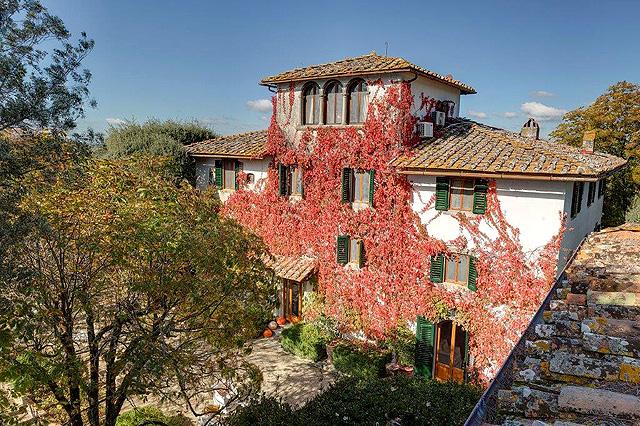 Chianti: Villa le Barone in autumn