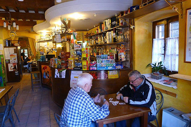 A coffee restaurant in Tuscany