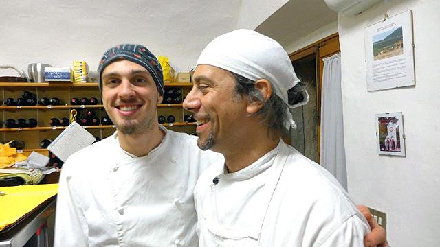 Villa le Barone' tuscan cooks Alessio e Tommaso