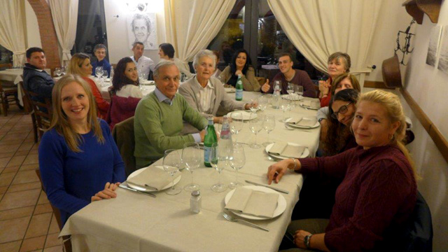Villa le Barone : together for dinner to celebrate the end of the season