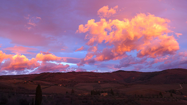 Sunrise in Chianti Tuscany
