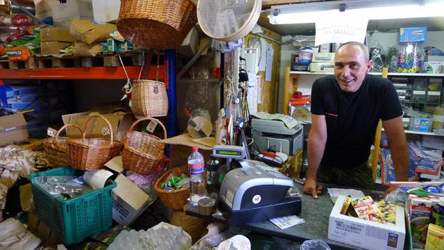 Signor Papini in his shop in Panzano in Chianti