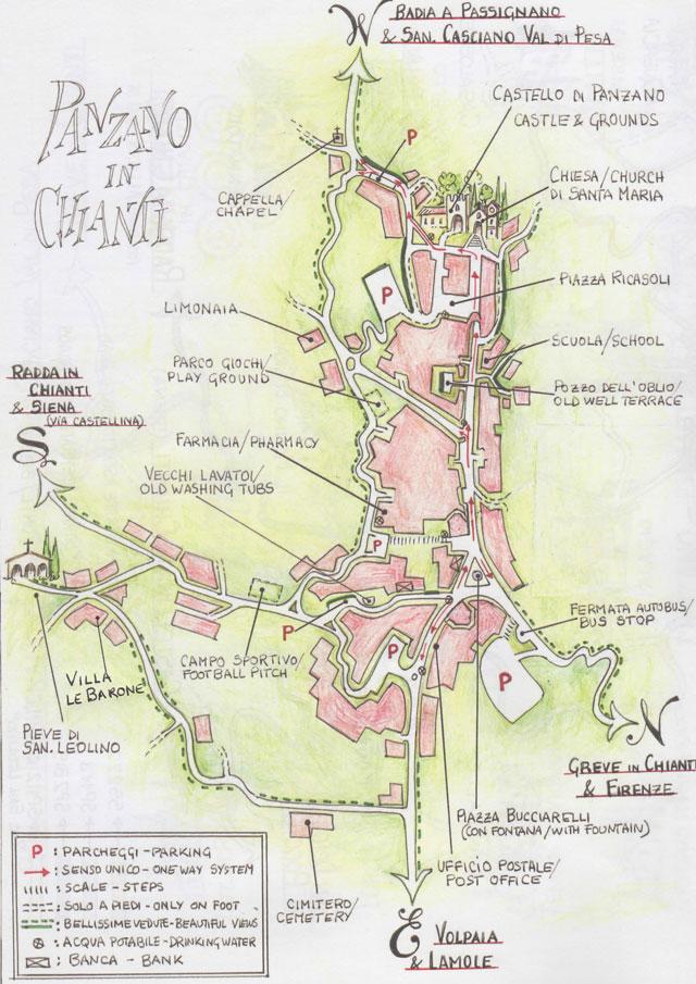 Cartina Panzano in Chianti 2017