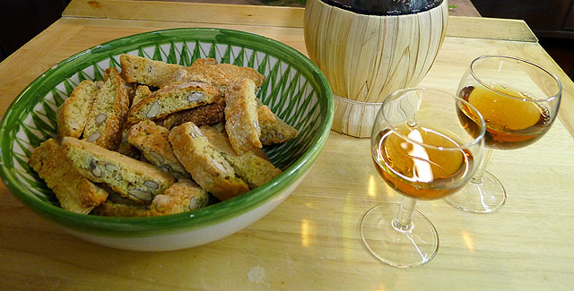 Vin Santo (Holy Wine ) and Cantucci